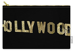Gold Hollywood Sign Carry-all Pouch