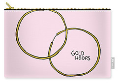 Gold Hoops Carry-all Pouch