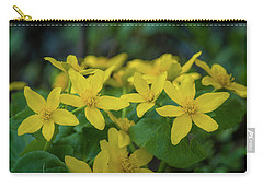 Carry-all Pouch featuring the photograph Gold In The Marsh by Bill Pevlor