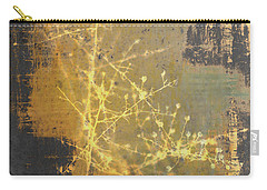 Gold Industrial Abstract Christmas Tree Carry-all Pouch by Suzanne Powers