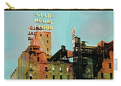 Carry-all Pouch featuring the photograph Gold Medal Flour Pop Art by Susan Stone