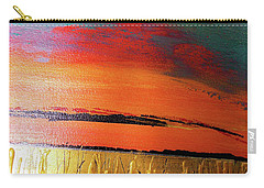 Gold Moon Reflection Carry-all Pouch by Carolyn Repka