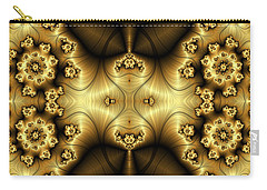 Gold N Brown Phone Case Carry-all Pouch by Lea Wiggins