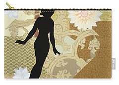Gold Paper Doll Carry-all Pouch