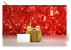 Carry-all Pouch featuring the photograph Gold Present With Place Card  by Ulrich Schade