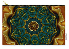 Gold Rose Mandala Carry-all Pouch