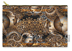 Carry-all Pouch featuring the digital art Gold Rush by Robert Orinski