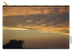 Gold Sky Over Lake Of The Ozarks Carry-all Pouch by Don Koester