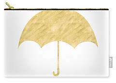 Gold Umbrella- Art By Linda Woods Carry-all Pouch by Linda Woods