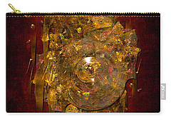 Golden Abstract Carry-all Pouch