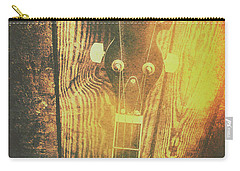 Golden Banjo Neck In Retro Folk Style Carry-all Pouch
