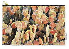 Golden Beaver Tail Catcus Carry-all Pouch by Linda Phelps