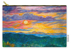 Carry-all Pouch featuring the painting Golden Blue Ridge Sunset by Kendall Kessler