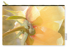Golden Bowl Tree Peony Bloom - Back Carry-all Pouch