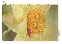 Golden Bowl Tree Peony Bloom - Profile Carry-all Pouch
