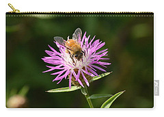 Golden Boy-bee At Work Carry-all Pouch