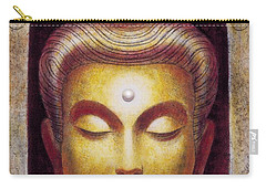 Carry-all Pouch featuring the painting Golden Buddha by Sue Halstenberg