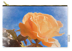 Carry-all Pouch featuring the photograph Golden Bunny by Elaine Teague