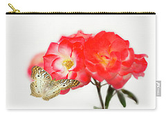 Golden Butterfly On Roses Carry-all Pouch