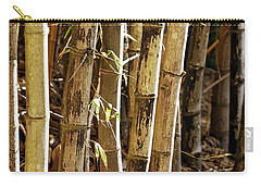 Carry-all Pouch featuring the photograph Golden Canes by Linda Lees