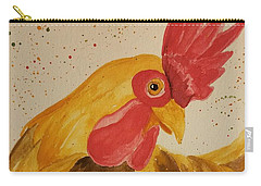 Golden Chicken Carry-all Pouch by Maria Urso
