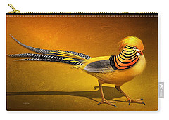 Golden Chinese Pheasant Carry-all Pouch
