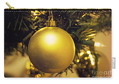Golden Christmas Ornaments Carry-all Pouch