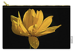 Carry-all Pouch featuring the photograph Golden Coreopsis by Jacqi Elmslie