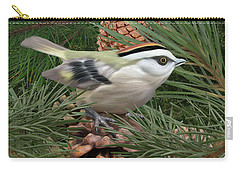 Golden Crowned Kinglet Carry-all Pouch by Walter Colvin