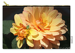 Golden Dahlia With Bud Carry-all Pouch