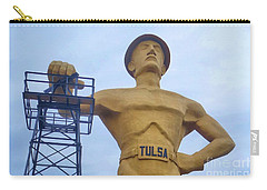 Golden Driller 76 Feet Tall Carry-all Pouch by Janette Boyd
