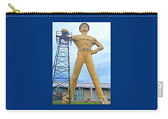 Carry-all Pouch featuring the photograph Golden Driller Tulsa Oklahoma by Janette Boyd