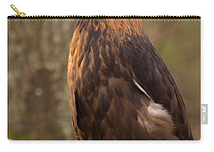 Carry-all Pouch featuring the photograph Golden Eagle Resting On A Branch by Chris Flees