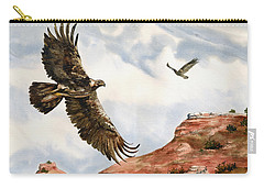 Golden Eagles In Fligh Carry-all Pouch by Sam Sidders