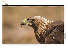 Golden Eagle's Portrait Carry-all Pouch by Torbjorn Swenelius