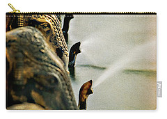 Golden Elephant Fountain Carry-all Pouch
