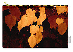 Carry-all Pouch featuring the photograph Golden Fall Leaves by Richard Ricci