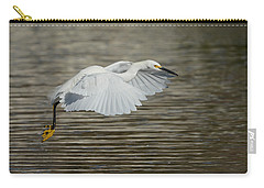 Carry-all Pouch featuring the photograph Golden Flight by Fraida Gutovich