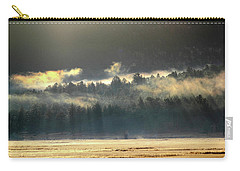 Carry-all Pouch featuring the photograph Golden Fog by Shane Bechler