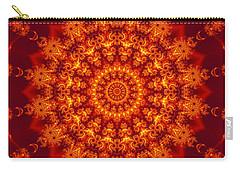 Golden Fractal Mandala Daisy Carry-all Pouch