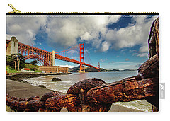 Carry-all Pouch featuring the photograph Golden Gate Bridge And Ft Point by Bill Gallagher