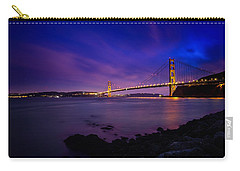 Golden Gate Bridge At Night Carry-all Pouch by Ian Good