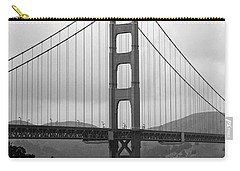 Golden Gate Bridge- Black And White Photography By Linda Woods Carry-all Pouch