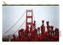 Golden Gate Bridge Red Flowers Carry-all Pouch