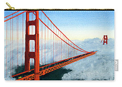 Golden Gate Bridge Sunset Carry-all Pouch by Mike Robles