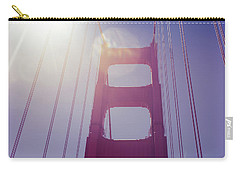 Golden Gate Bridge The Iconic Landmark Of San Francisco Carry-all Pouch by Jingjits Photography