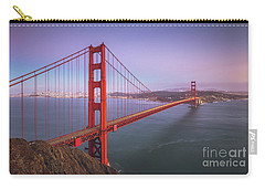 Golden Gate Bridge Twilight Carry-all Pouch by JR Photography