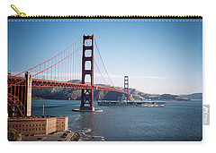 Golden Gate Bridge With Aircraft Carrier Carry-all Pouch