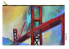Carry-all Pouch featuring the painting Golden Gate Colors by Elise Palmigiani