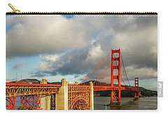 Carry-all Pouch featuring the photograph Golden Gate From Above Ft. Point by Bill Gallagher